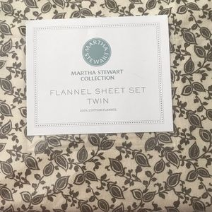 Martha Stuart Flannel Sheet Set